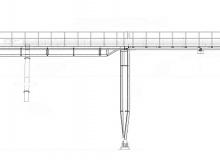 Budowa układu transportu pyłu spod wieży schładzającej nr 1 do elewatora zbiornika homo na linii piecowej nr 6