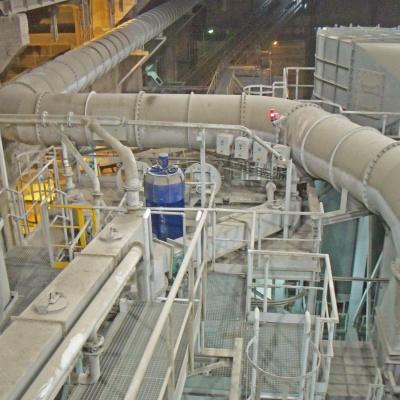 """Przebudowa młyna surowca nr 1 na młyn cementu nr 4 i budowa separatora dynamicznego - Cementownia """"Warta"""""""