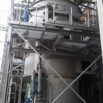 """Budowa pionowego młyna żużla, separatora i układu pneumatycznego transportu cementu - Cementownia """"Odra"""""""